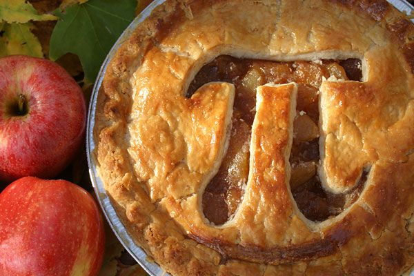 pie with pi carved into it